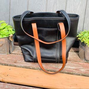 Coach Vintage Classic Black Gallery Tote Bag Sm